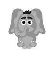 isolated cute elephant on white background vector image vector image