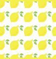 lemons hand drawn seamless pattern white vector image