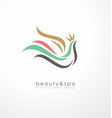 logo design idea for beauty and spa vector image