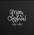 merry christmas lettering card design vector image vector image