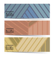modern design set of three colorful graphic vector image vector image