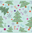 new year seamless pattern with fir trees vector image vector image