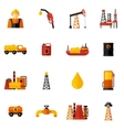 Oil Industry Icons Flat vector image vector image