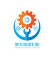 optimization - business logo template vector image vector image