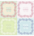 ornate floral invitation cards set vector image vector image