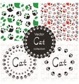 Pattern with cat paw vector image