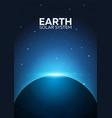poster planet earth and solar system space vector image vector image