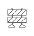 railroad barrier roadblock line icon vector image vector image