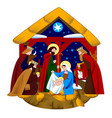scene nativity christ and adoration of vector image