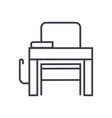 school desk line icon sign vector image