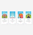 school tools books bus transport cartoon ux ui vector image
