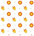 seamless pattern lion and giraffe vector image