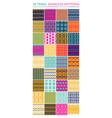 set 36 tribal seamless patterns vector image