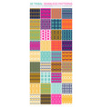 set of 36 tribal seamless patterns vector image vector image