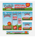 set of easter sale special discount web banner vector image