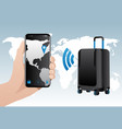 Smart baggage with built-in gps tracking