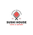 sushi restaurant logo design vector image vector image