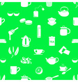 tea theme simple icons seamless pattern eps10 vector image
