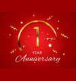 template logo 1 years anniversary vector image