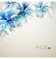 tender background with blue abstract flowers vector image vector image
