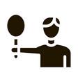 tennis player man icon glyph vector image vector image