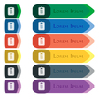 Text file icon sign Set of colorful bright long vector image vector image