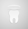 Tooth with a nimbus vector image vector image