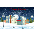 urban city winter landscape vector image vector image