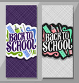 vertical banners for school vector image vector image