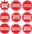 Weekend offer red label Weekend offer red sign vector image vector image