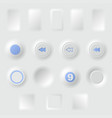 white buttons different forms vector image