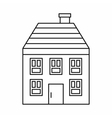 Wooden house icon outline style vector image vector image