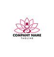 yoga logo design template vector image vector image