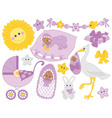 African American Baby Set vector image