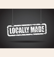 locally made white vector image