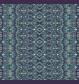 Abstract geometric blue striped border design