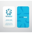 Abstract Logo with Business Card Template vector image vector image