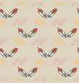 abstract seamless pattern with feathers on grey vector image vector image