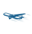 aircraft airplane airline logo or label journey vector image vector image