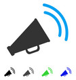 announce horn flat icon vector image