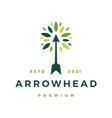 Arrow hand tree leaf logo icon