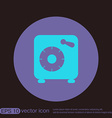 bank vault safe icon vector image