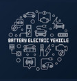 battery electric vehicle round vector image vector image