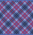 blue check plaid pixel fabric seamless texture vector image