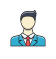 businessman filled related icon vector image vector image