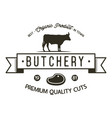 butchery shop logo template old style badge vector image