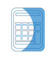 calculator math school accounting buttons vector image