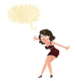 cartoon female spy with speech bubble vector image vector image