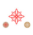 celtic like style linear star with circle symbol vector image vector image