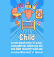 child concept banner cartoon style vector image vector image